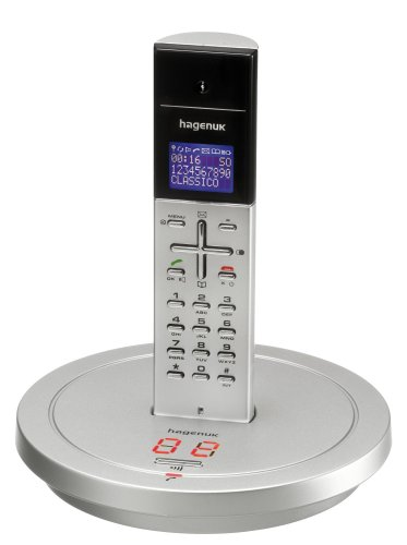 Hagenuk Classico Voice Design-DECT-Telefon mit Anrufbeantworter Silber