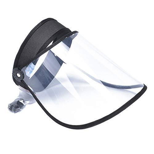 Schutz-Gesichtsschutz, Mehrzweck-Anti-Saliva-Schutz, Winddicht, staubdicht, transparente Gesichtsabdeckung für Haushalt, Küche und persönlichen Gebrauch (schwarz, 18 cm)