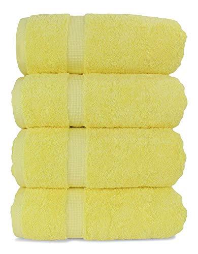 Juego de 6 Toallas amarillas de Mano (100% algodón)