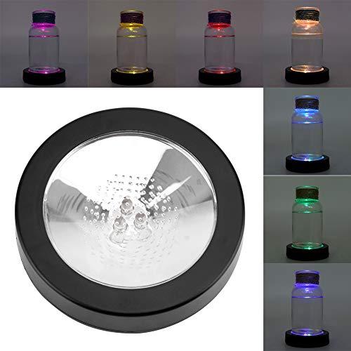 Sottobicchiere LED con Luci a Induzione Illuminazione per Birra Bar In Auto Sale Per Feste Base Display a LED, 9,5×9,5×2 cm