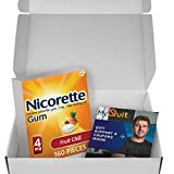 Nicorette Nicotine Gum to Stop Smoking, with Quit Support System, Fruit Chill, 4mg, 12 Weeks Quit Smoking Aid, 160 Count