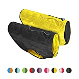 Kurgo Loft Jacket, Reversible Dog Coat, Dog Coat for Cold Weather, Water-Resistant Dog Jacket with Reflective Trim, Black/Yellow, X-Small