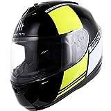 Hombres Mujeres Moto Casco de Moto Adulto Transpirable Forro de Algodón Cara Llena Cascos de Moto Motocross Safety Caps 11 Colores XXL
