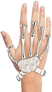 Halloween Girls Fun Skeleton Moveable Hand Stretch Bracelet Slave Ring