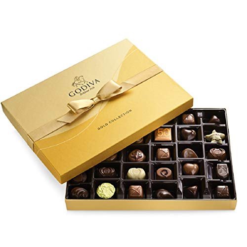 Godiva Chocolatier Chocolate Gold Gift Box,...