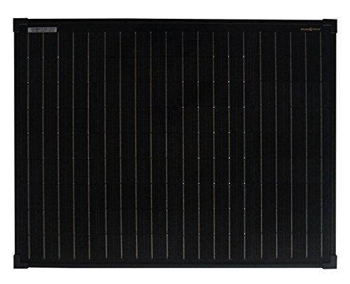enjoy solar Pannello solare monocristallino 50W 12V modulo fotovoltaico - Full Black