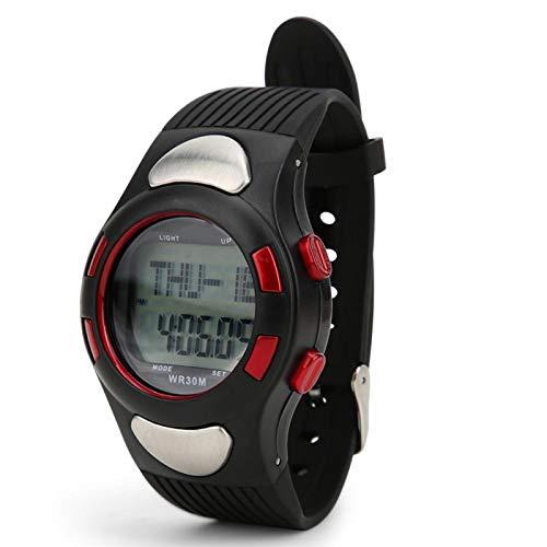 DSJSP Reloj Deportivo, cronómetro Digital, Resistente al Agua, Reloj Deportivo con Cuenta atrás, retroiluminación, Monitor de frecuencia cardíaca, Temporizador