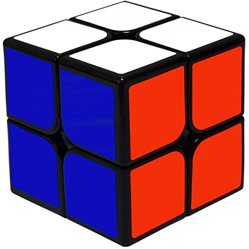 Maomaoyu Zauberwürfel 2x2 2x2x2 Original Speed Cube Magic Cube Puzzle Magischer Würfel PVC Aufkleber für Schneller und Präziser mit Lebendigen Farben(Schwarz)