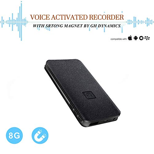 Voice Activated Recorder - 5000mh Battery Life Up to 25 Days Continuous Voice Recording,8GB 94 Hours Recordings Capacity, Functional Portable Charging Device | Build-in Magnet