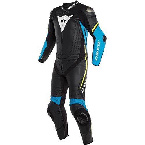Dainese Mono para moto de piel Negro/azul/Amarillo