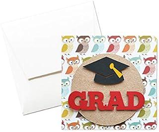 Grad - Laurea - momenti di gloria - biglietto d'auguri (formato 12 x 12 cm) - vuoto all'interno, ideale per il tuo messagg...