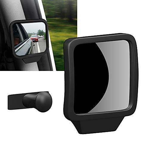 Biqing Espejo Retrovisor Interior de Coche,Universal Espejo Retrovisor Bebe 360° Ajustable Adsorción Automática Espejo de Punto Ciego Espejo Auxiliar de Seguridad