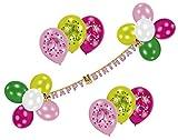 Amscan 450198 - Partyset Charming Horses, 1 Girlande, 20 Ballons, 2 Kartonscheiben, 3 Bänder, Pferde, Kindergeburtstag