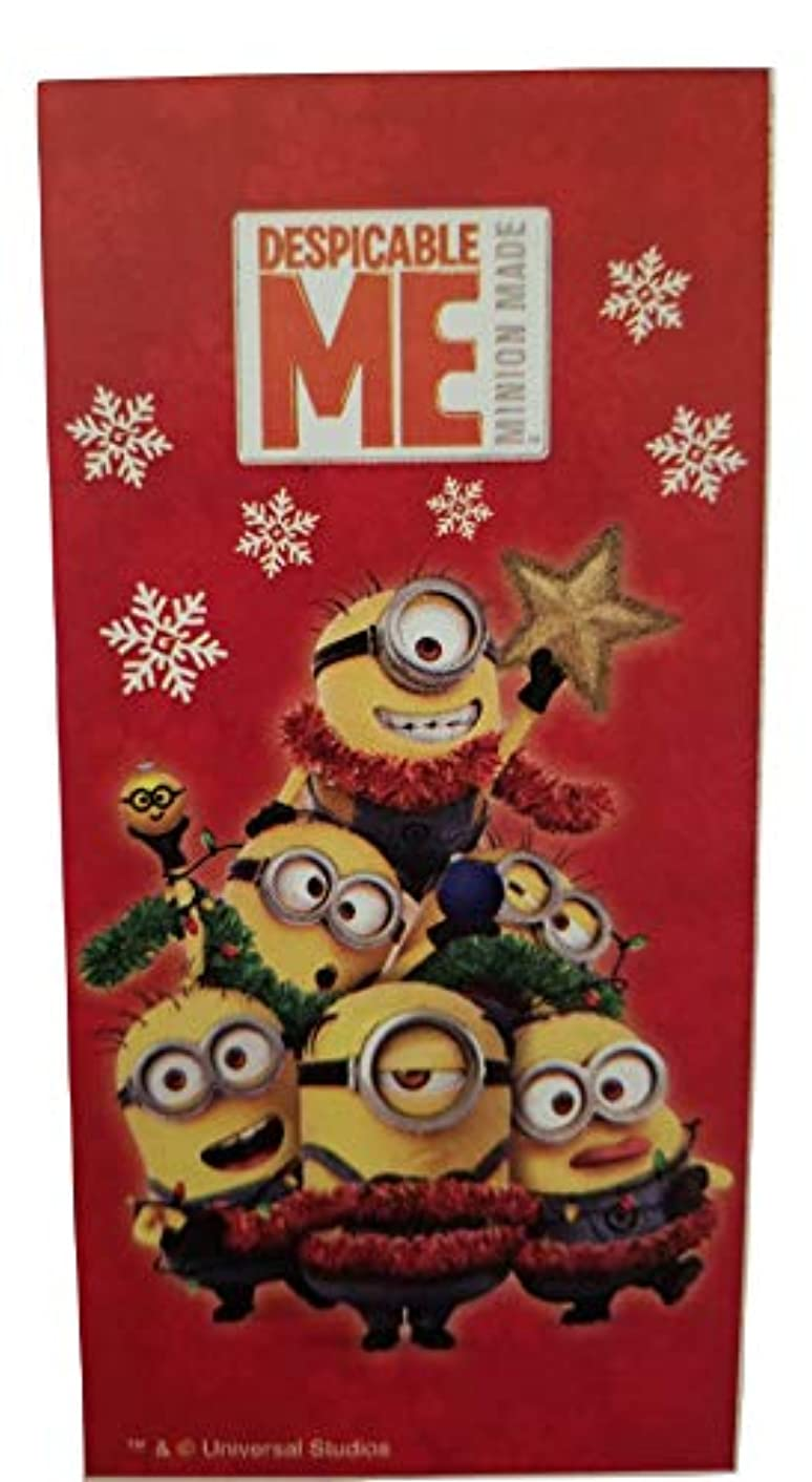 Despicable Me Minions Christmas Theme Gift Wrap -Red Gift Paper- Minions - Wrapping Paper 20 sq ft. (1 Roll)