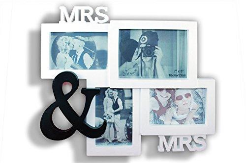 Preis am Stiel Bilderrahmen Mrs. & Mrs. | für 4 Fotos | Liebe | Familie | Deko | Wohnen | Wohnaccessoires | Haushalt | Liebe | Wand | Freundschaft | Geschenk | Glas | Valentienstag