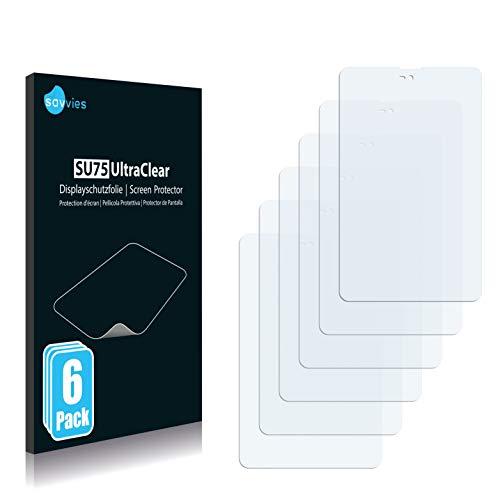 Savvies 6X Schutzfolie kompatibel mit Xoro TelePAD 735Q Bildschirmschutz-Folie Ultra-transparent