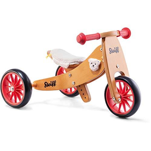 Steiff 751011 Laufrad klein braun/rot, Mehrfarbig