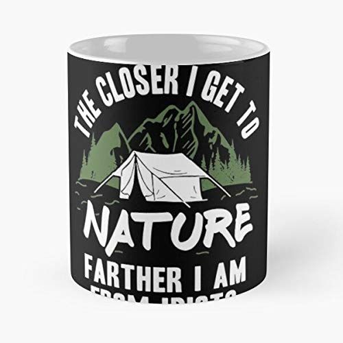 Outdoor Camping Nature Shirt Hiking Camper Fishing Classic Mug - The Funny Coffee Mugs For Halloween, Holiday, Christmas Party Decoration 11-15 Oz.