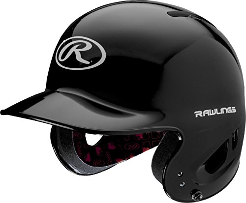 Rawlings MLB Inspired NOCSAE T-Ball Clear Coat Batting Helmet, Black, One Size