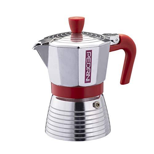 Pedrini Infinity Espressokocher, Aluminium 3 tazze Bright