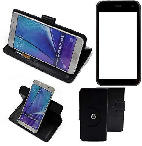 K-S-Trade® Handy Hülle Für Cyrus CS 22 Flipcase Smartphone Cover Handy Schutz Bookstyle Schwarz (1x)