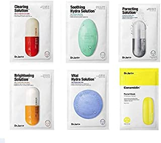 Dr. Jart Mask Sheet Set 6 Pcs Mixed with Pore Mask & Clearing Mask Comes in a Customized Gift Packaging (ANTI-AGING)