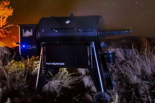 Pit Boss Navigator 1150 - Barbacoa de pellets (acero, 162 x 94 x 119 cm, con pantalla digital)