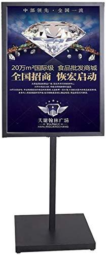 XWYZSJ Marco soporte de publicidad Publicidad del soporte de exhibición del cartel cartelera pantalla soporte de la propaganda placa vertical de pie al aire libre a prueba de viento marco de póster de