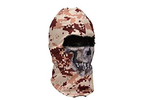 【MCT03】 フェイスマスク バラクラバ フルフェイスマスク SEALsスカル 骸骨 ピクセルブラウン迷彩