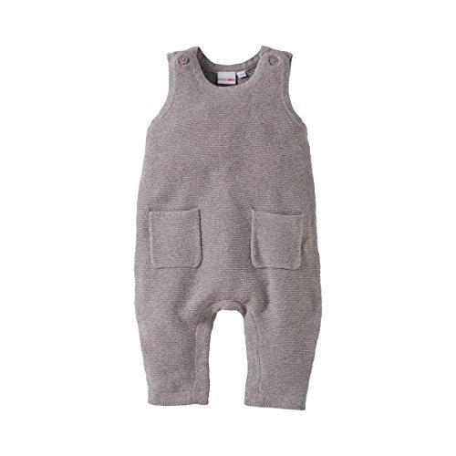 Bornino Strick-Strampler ohne Fuß - Baby-Overall mit Druckknöpfen im Schrittbereich & aufgesetzten Taschen - Einteiler aus Reiner Baumwolle