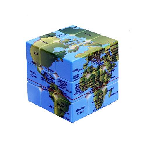 JMG 3 × 3 × 3 Profesional Cube Mapa del Mundo Cubo Mágico Cubo De La Velocidad Rompecabezas Cubo Cubos Educativos del Rompecabezas De Juguetes para Niños Y Juguetes para Adultos