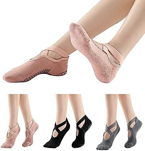 COMSUKI Non Slip Cotton Free shipping New Yoga with for Straps Grips Ranking TOP17 Socks