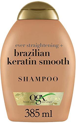 OGX, Champú Keratina Brasileña, Cabellos Ondulados o Rizados 385 ml