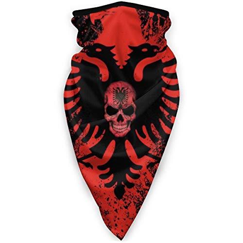 BJAMAJ Masque coupe-vent pour sports de plein air avec motif drapeau albanais de l'aigle pour homme et femme