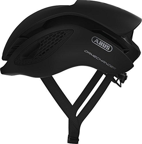 ABUS GameChanger Rennradhelm - Aerodynamischer Fahrradhelm mit optimalen Ventilationseigenschaften für Damen und Herren - 77592 - Schwarz Matt, Größe M