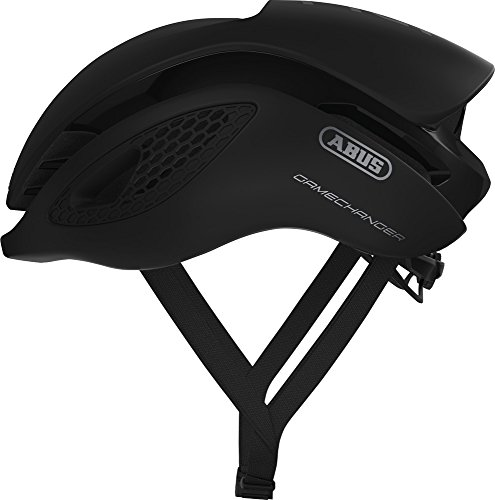 Abus Gamechanger Aero- Helm Fahrradhelm, Schwarz (velvet black), L (57-62 cm)