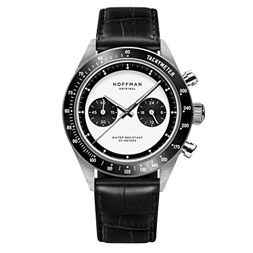 Hoffman Watches RACING 40 Panda Cronografo Ibrido Quarzo Meccanico Acciaio...