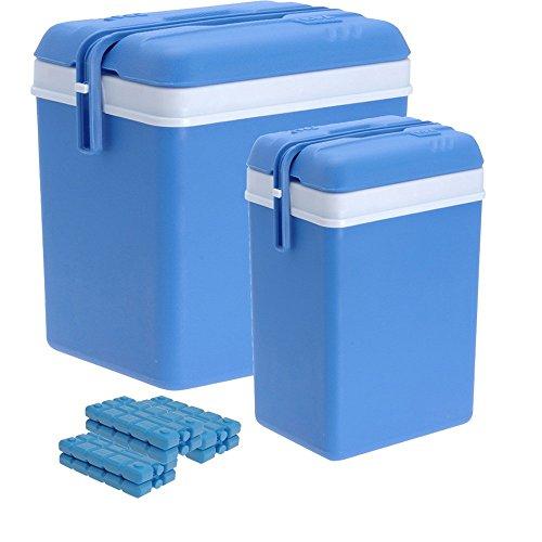 ToCi Kühlbox-Set aus großer (35 Liter) und Kleiner (12 Liter) Kühlbox mit 6 Kühlakkus