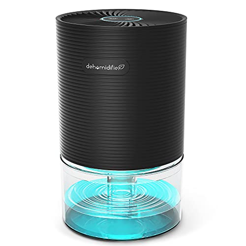 Nessbase Dehumidifier 2200 Cubic Feet Ultra-Quiet Mini Dehumidifier with Colorful LED Lights and Auto Shut Off Portable Small Dehumidifiers for Home, Bedroom, Basements and Closet Use