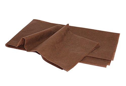 ベッドシーツ(薄80×180)折畳タイプ・使い捨て 非防水 吸水性抜群 20枚入り (ブラウン)BR