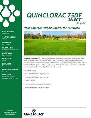 Select Source Quinclorac 75 Herbicide - 1 Pound (Drive 75, Quinstar) by