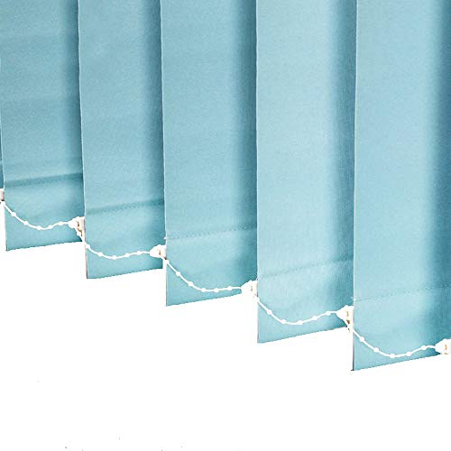 LETAU 100% Blackout Vertical Window Shades, 3inch Slat Fabric Thermal Insulated Energy Saving UV Protection Decoration Vertical Window Blinds