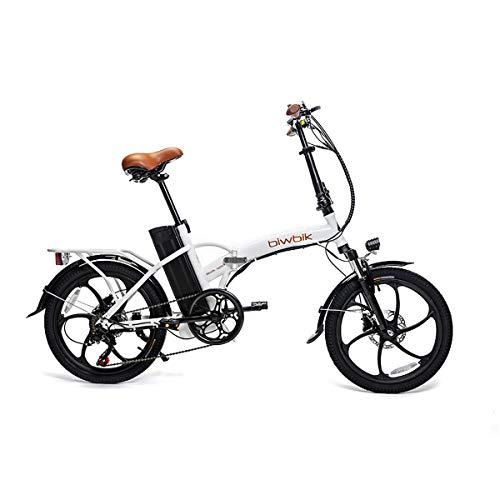 BIWBIK Bicicleta ELECTRICA Plegable Book (Book Sport Blanca BATERIA 12AH)
