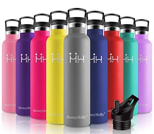 HoneyHolly Vakuum Isolierte Edelstahl Trinkflasche 1000ml,BPA Frei...
