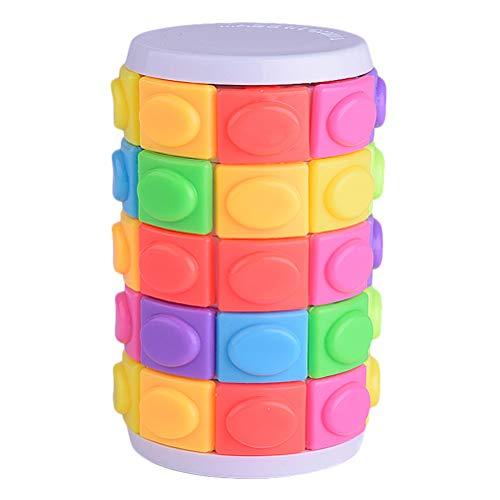 Fovely Zylindrisches Puzzle drehen Schieben Brain Bend Twist Slide Toy Logic Game Trainingsgeschenke für Jungen Mädchen Erwachsene (bunt)