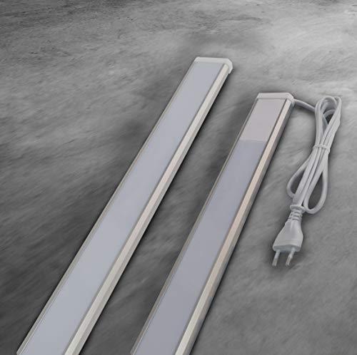 Trango 2534 LED Unterbauleuchte 4-Stufen dimmbar *SUN* Lichtleiste, Küchen Unterbauleuchte 900mm lang 15 Watt in Titan mit ON/Off Schalter, warmweiß Led Leiste, Schrankbeleuchtung, Unterbauleiste