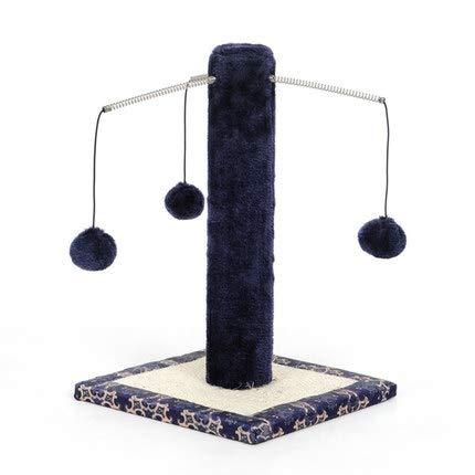 LQMXX Katzenkratzbaum, Kratzsäule für Katzen, freistehend, Kratzstange mit Sisalstamm & Spielball, Indoor