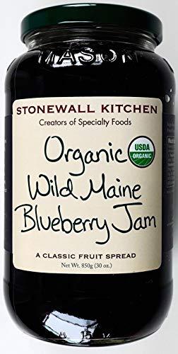 Stonewall Kitchen USDA Organic Wild Maine Blueberry Fruit Spread, 30 Ounce