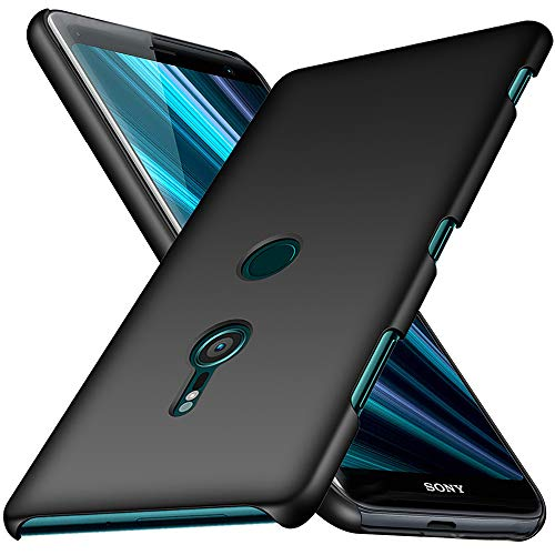TOPACE Hülle für Sony Xperia XZ3 Ultradünne Leichte Matte Handyhülle für Xperia XZ3 Einfache Stoßfeste Kratzfeste Ganzkörper Hülle kompatibel mit Sony Xperia XZ3 (Schwarz)