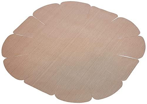 WENKO Antihaft-Backform-Zuschnitt rund - wiederverwendbar, spülmaschinengeeignet, Thermoplast, 41 x 39 cm, Braun